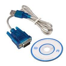 Usb para rs232 porta serial db9 9 pinos macho com porta conversor adaptador cabo pda