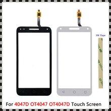"""5.0 """"สำหรับ Alcatel One Touch U5 3G 4047D 4047G 4047 OT4047 OT4047D Touch Screen Digitizer SENSOR ด้านนอกแผงกระจก"""