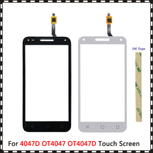 """5.0 """"עבור אלקטל אחד מגע U5 3G 4047D 4047G 4047 OT4047 OT4047D מגע מסך Digitizer חיישן חיצוני זכוכית עדשת פנל"""