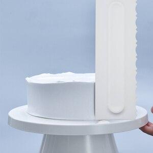 Расческа для Украшения Торта Глазурь Гладкий скребок для торта кондитерский 6 дизайн текстуры инструменты для выпечки торта инструмент DIY скребок Прямая поставка
