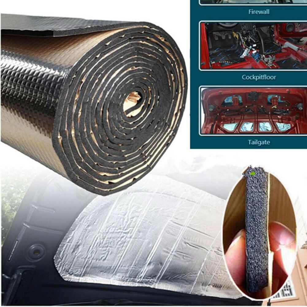 1 ロール車の防音消音マット 25 × 50 センチメートルファイアウォール絶縁オーディオノイズ絶縁体パッド自動車内装- スタイリングアクセサリー