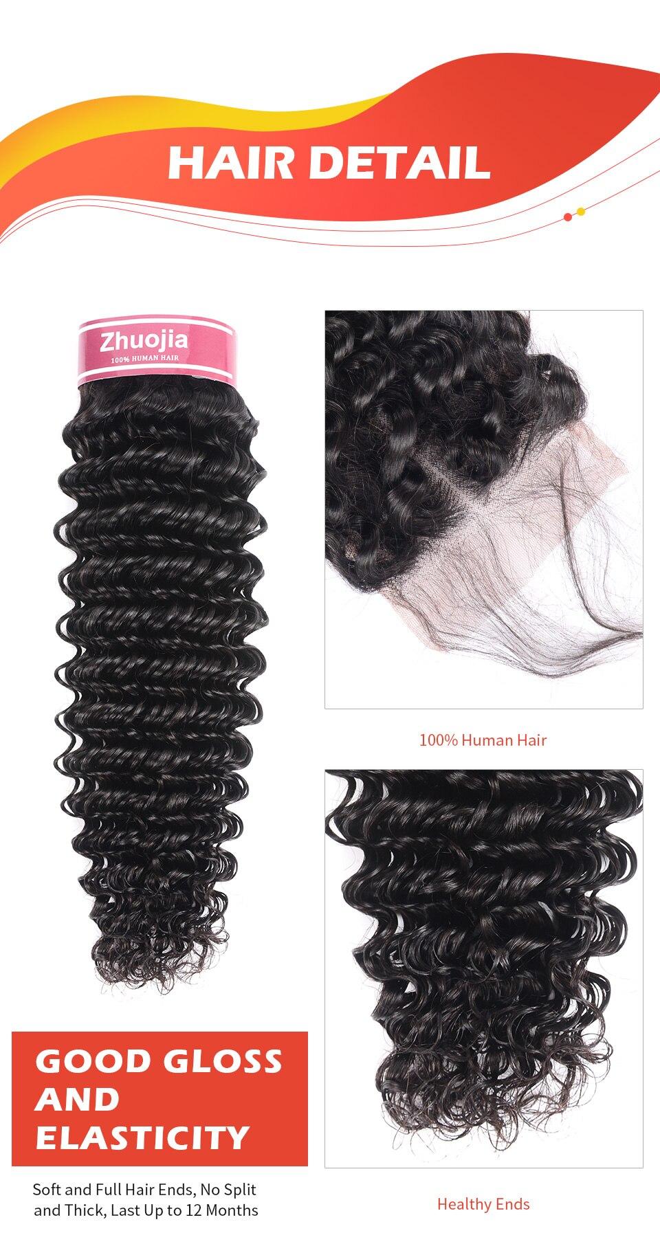 Глубокая волна Закрытие 4x4 человеческие волосы закрытие 8-20 дюймов Кружева Закрытие бразильский Remy средняя свободная часть закрытие