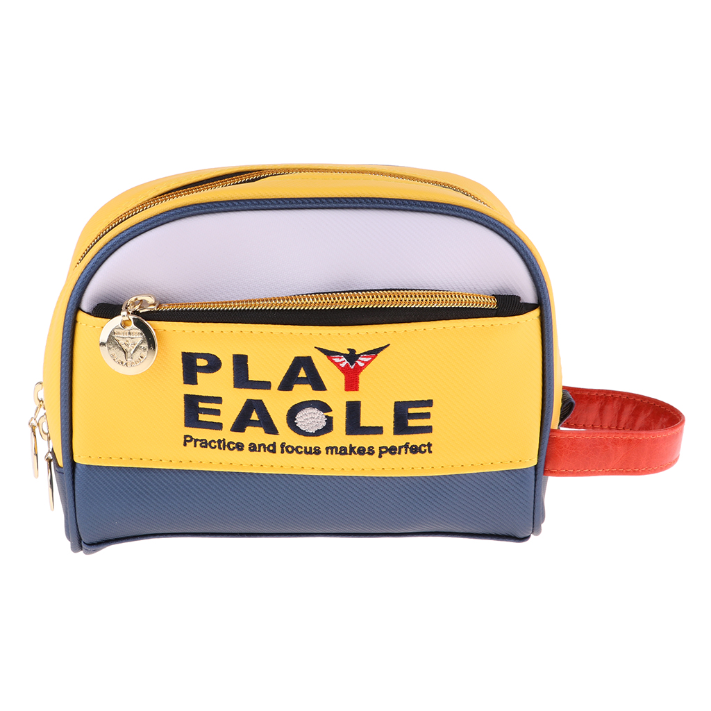 PU Golf Handbag Ditty Bag Change Purse Carrying Pouch Multifunctional Holder For Golf Ball Tee Marker Had Clip