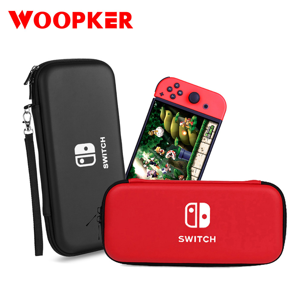 For Nintend Switch Case Waterproof Hard PU Protective Storage Bag for Switch Lite Console and Game Accessories