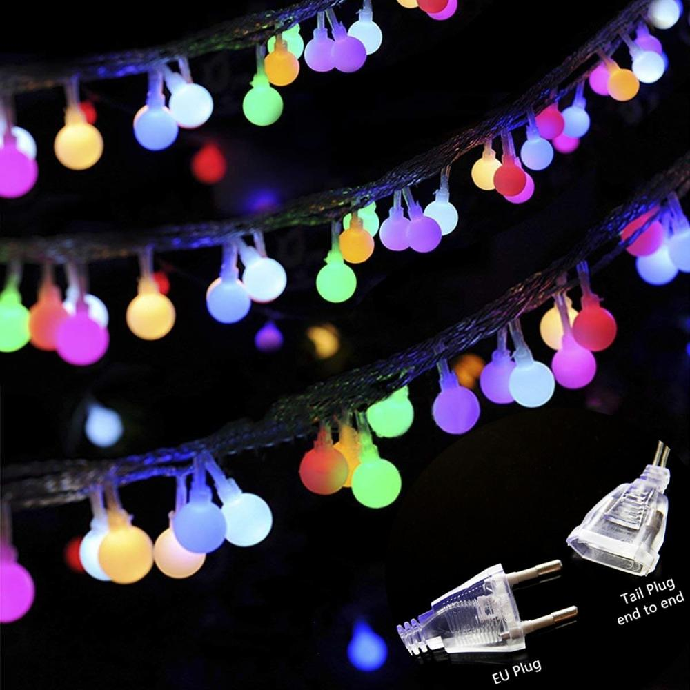 LED String Lights Cherry Ball Lamps Plug Battery Powered Holiday Starry Fairy Garland For Bedroom Garden Christmas Wedding Party