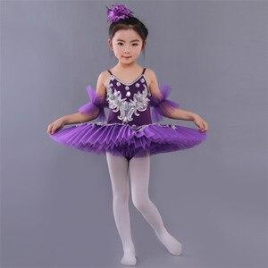 Image 5 - Ballerine Femme, Золотое кружево, классическое, для взрослых, для детей, профессиональное балетное платье пачка, голубое платье, танцевальный костюм для детей