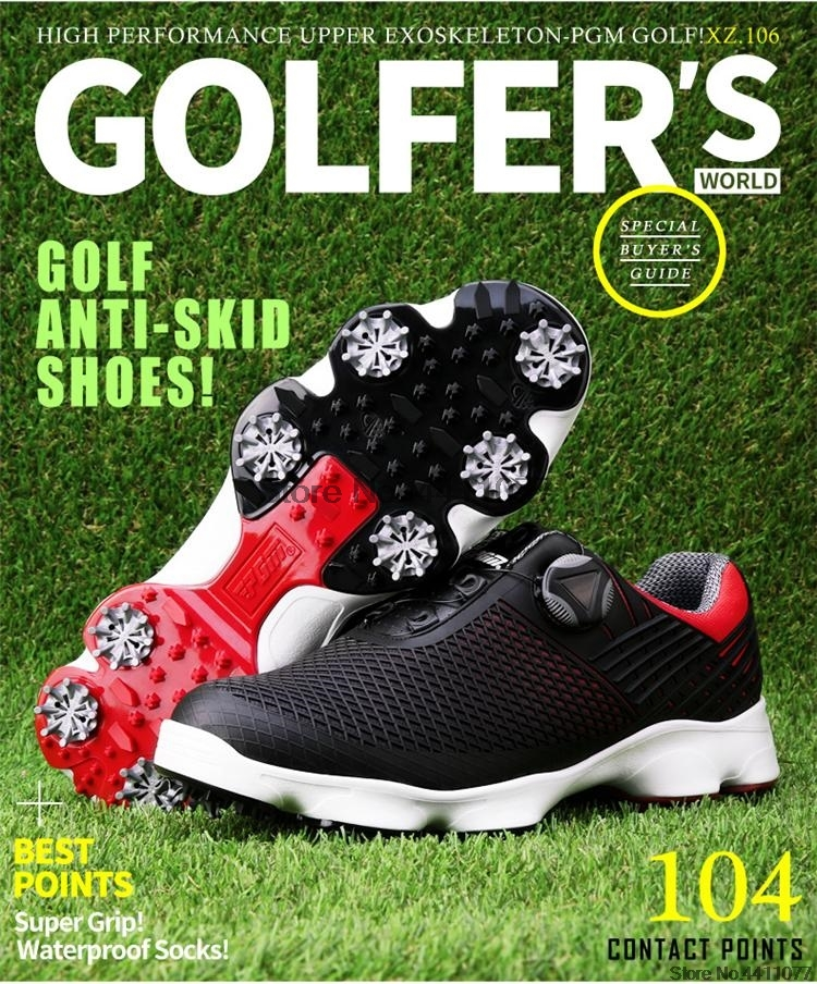 golfe homem respirável untii-deslizamento spikes sapatos esportivos