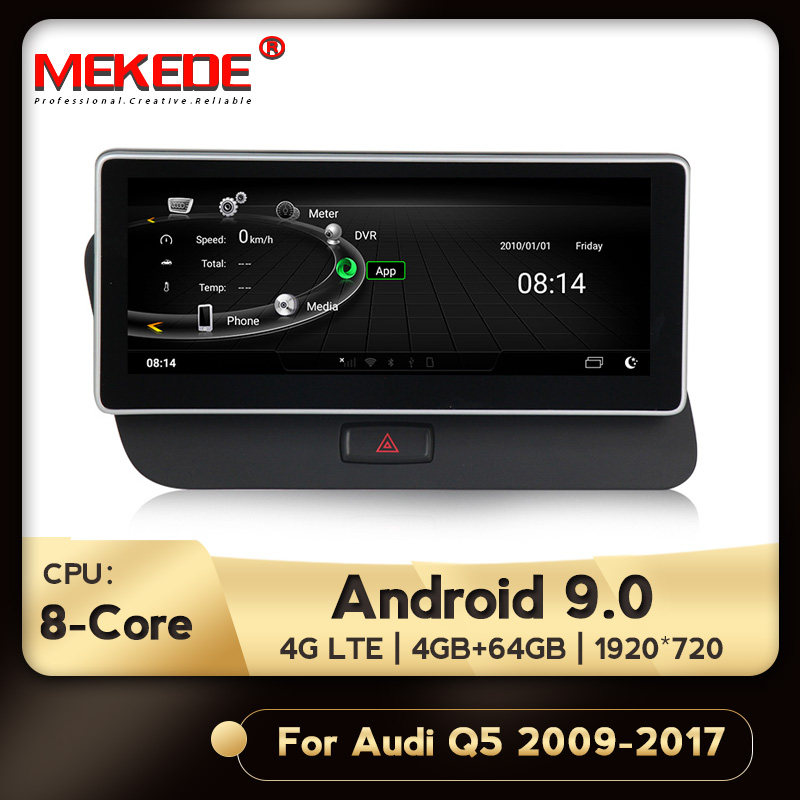 MEKEDE 4G LTE New 1920x720 HD  Android 9.0 8 Core 4+64G Car Dvd Radio Multimedia Player GPS Navigation For Audi Q5 2009-2017