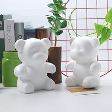1pcs 20cm Artificial Flowers Foam teddy bear of roses Mold DIY Gifts Polystyrene Styrofoam wedding Valentine's Day present(China)