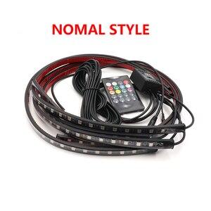 Image 3 - Niscarda музыкальный пульт дистанционного управления RGB Светодиодная лента под автомобиль труба подсветка Нижняя Система неосветильник DC12V IP65 5050 SMD