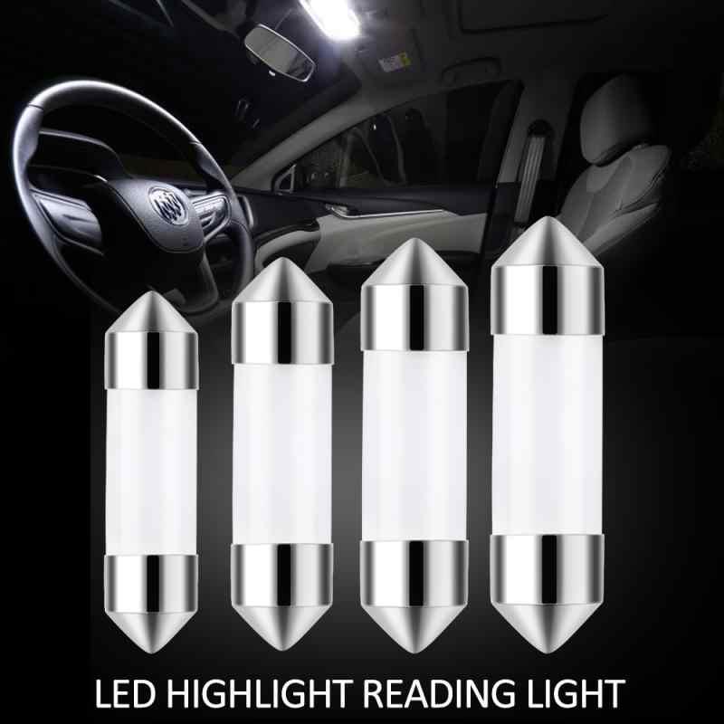 1PC C5W Cob lampe à LED voiture LED ampoule 41mm 39mm 36mm 31mm voiture intérieur lecture lumière Source blanc plaque d'immatriculation lumière 12V