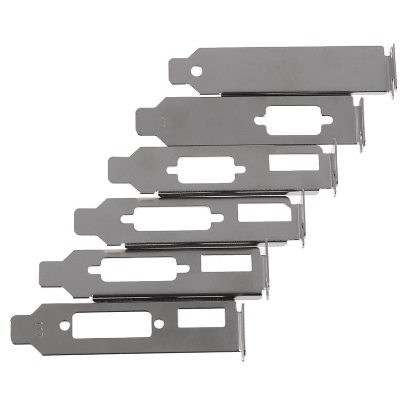 1pc/2PCS Low Profile Bracket Adapter HDMI DVI  Baffle DP VGA Port  For Half Height Graphic Video Card Set