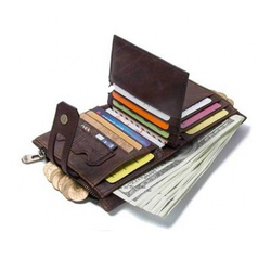 2019 New 100% Genuine Leather Wallet Men Crazy Horse Wallets Coin Purse Short Male Money Bag Mini Walet High Quality Boys