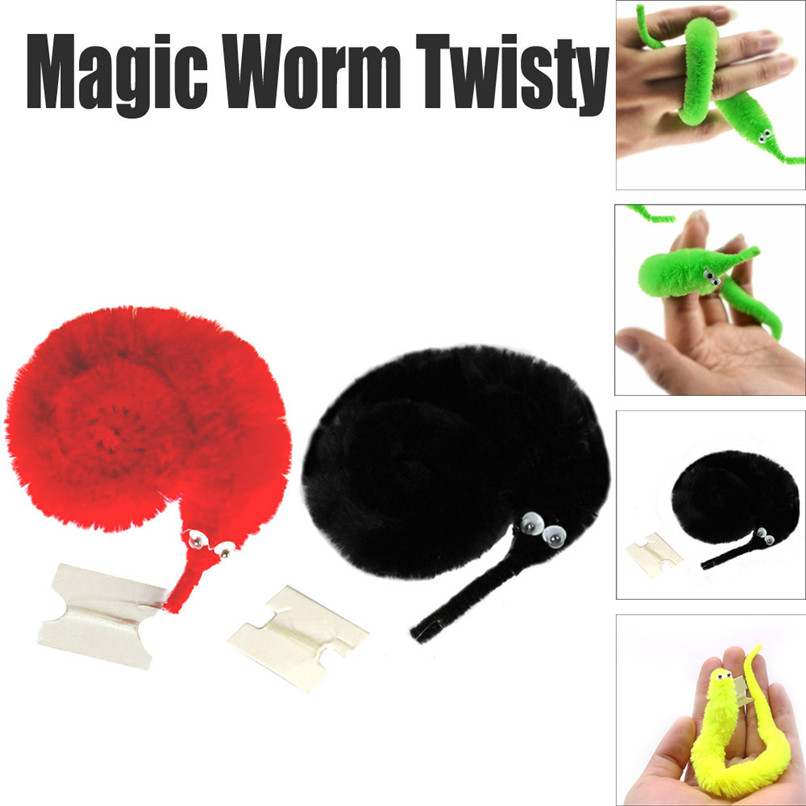 Magic Twisty Fuzzy Worm Wiggle Moving Sea Horse Kids Close-up Street Comedy Magic Tricks Toys 30SE20 image