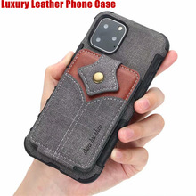 Luxury Leather Soft TPU Hard PC 2 In 1 Shockproof Phone case For iPhone11  5.8 inch 6.1 6.5 X XR XS MAX 6 7S 8S Plus
