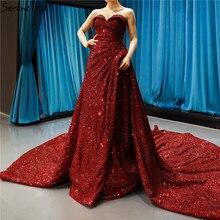 Роскошное Милое сексуальное вечернее платье с блестками без рукавов высокого класса блестящие вечерние платья настоящая фотография HM66681