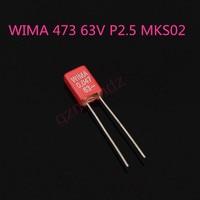 20 قطعة جديد WIMA MKS02 0.047 فائق التوهج 63V 47NF/63V P2.5MM الصوت فيلم مكثف mks02 473/63v MKS2 473 63V 47NF-في رقائق مكبر للصوت التشغيلي من الأجهزة الإلكترونية الاستهلاكية على