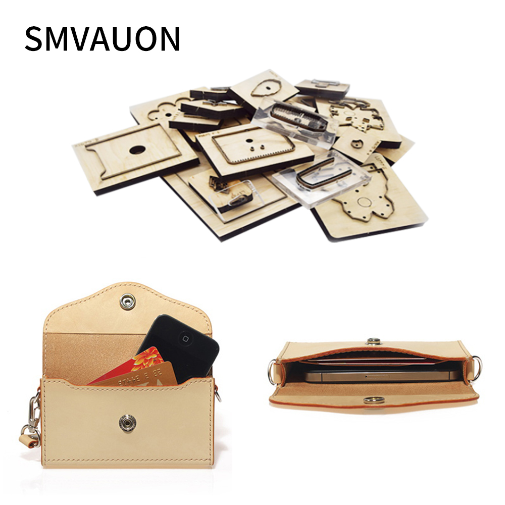 SMVAUON Leather Tools wallet wood moulds die cut handmade crafts Making Decor Supplies Dies Template 1