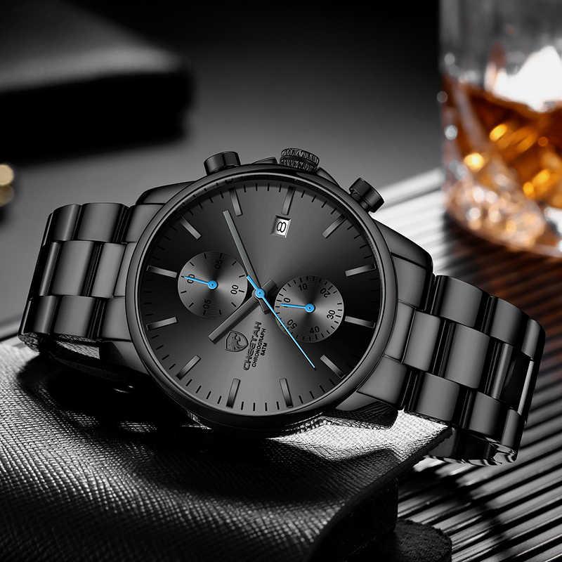 CHEETAH Casual Business Uhren für Männer Top Marke Luxus Schwarz Blau Quarz Armbanduhr Analog Männlichen Uhr Mode Sport Herren Uhr