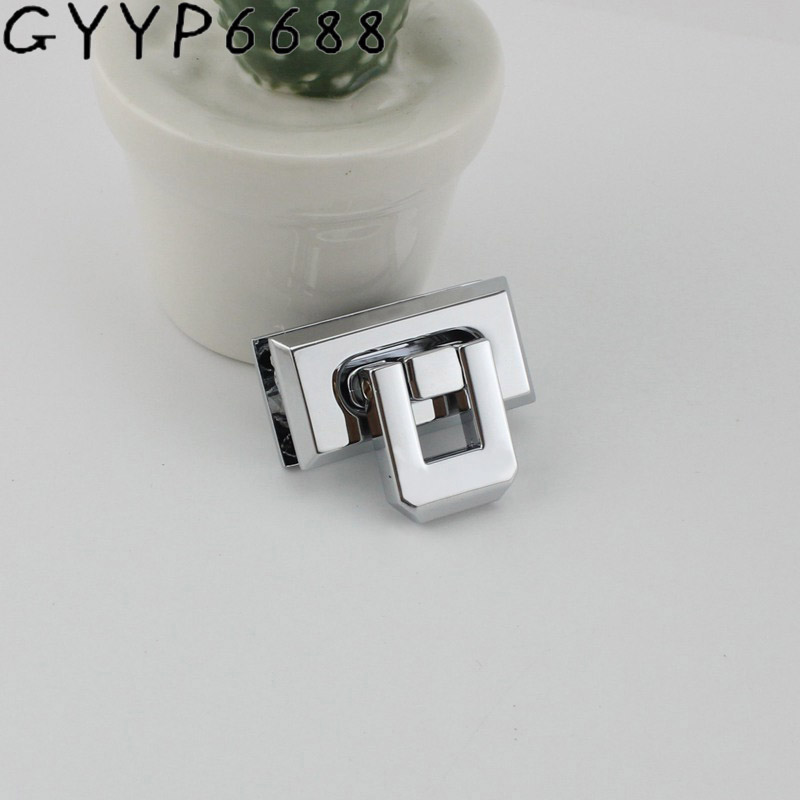 5sets Chrome Twist Lock Bag DIY Twist Buckle Handbag Hardware Hand Accessories Luggage Handbag Hardware Accessories