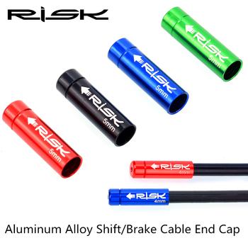 10 sztuk Shift Brake zaślepka na kabel 4mm 5mm do roweru szosowego i górskiego rowerów rury przewodowe wodoodporna aluminiowa czapka rura osłona przeciwpyłowa tanie i dobre opinie CN (pochodzenie)