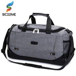 Scione, мужская дорожная сумка, большая вместительность, ручная кладь, сумки для путешествий, нейлоновые сумки на выходные, женские многофункц...
