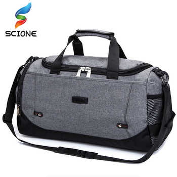 Scione Men Travel Bag Large Capacity Hand Luggage Travel Duffle Bags Nylon Weekend Bags Women Multifunctional Travel Bags - DISCOUNT ITEM  52% OFF All Category