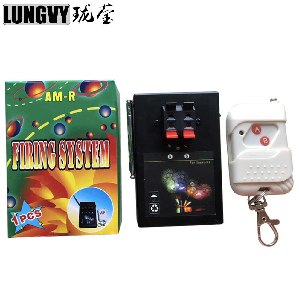 Free Shipping AM02R 1 Receiver 2 Groups Remote Wireless Control Cold Firework Machine Mini Pyro Stage Firing Device System