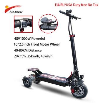 Patinete eléctrico de 3 ruedas para adultos, Patinete eléctrico de 48V y 1000W de 10 pulgadas, 36V, 500W y 800W