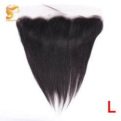 AOSUN HAIR Brazilian Human Hair Straight 13x4 Frontal with Baby Hair Ear to Ear Lace Frontal Closure Remy Hair Extensions