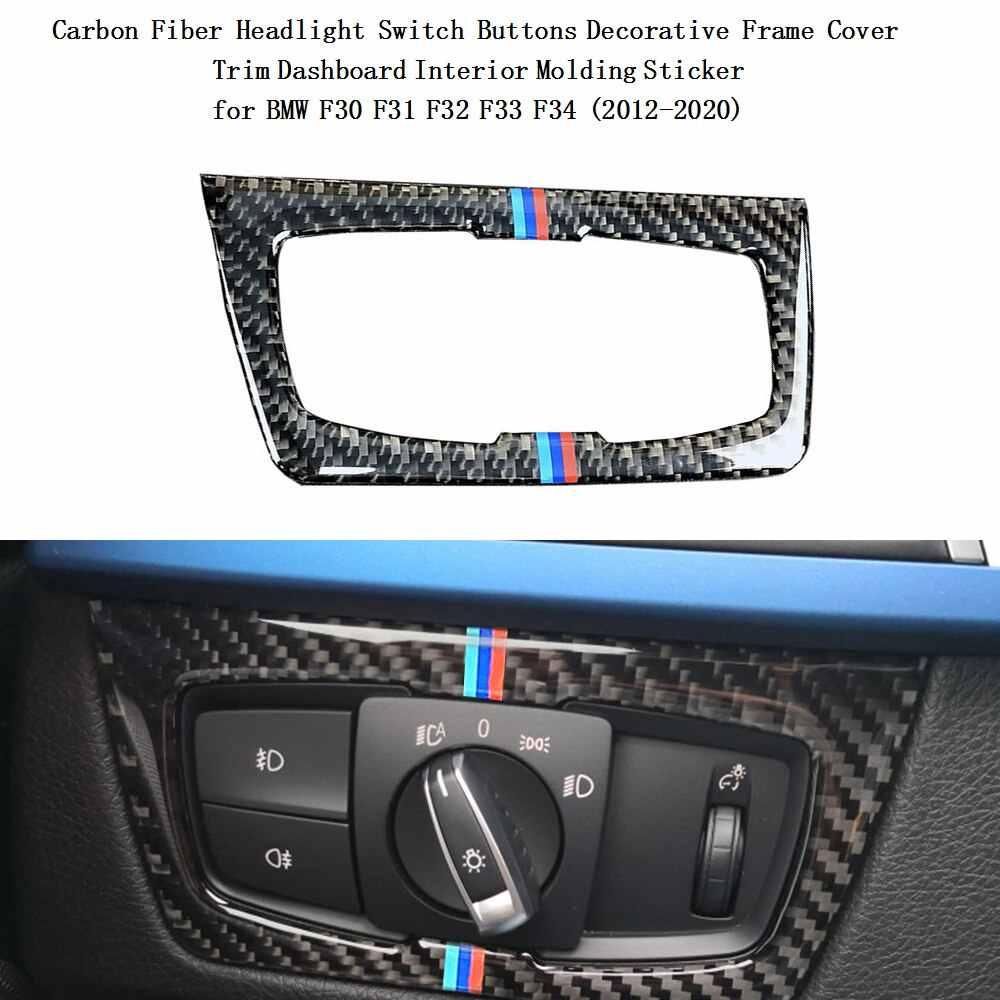 Serat Karbon Anti Gosok Cover Trim Stiker Mobil Interior 2019 Gaya Baru Aksesoris untuk BMW F30 F31 F32 F33 f34 (2012-2020)