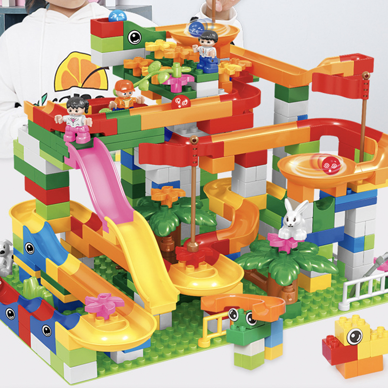 Hipac 88 264PCS Building Blocks Marble Racing Run Block Ball Plastic Funnel Slide DIY Assembly Bulid Bricks Toys For Children|Blocks| - AliExpress