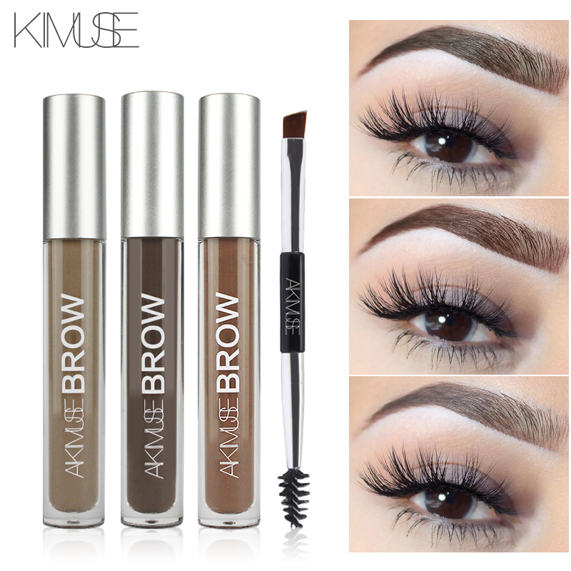 KIMUSE Eyebrow Gel Cream Waterproof Eyebrow Dye Henna Tattoo Eyebrow Pencil Shadow Long Lasting Cosmetic Eyebrow Enhancer