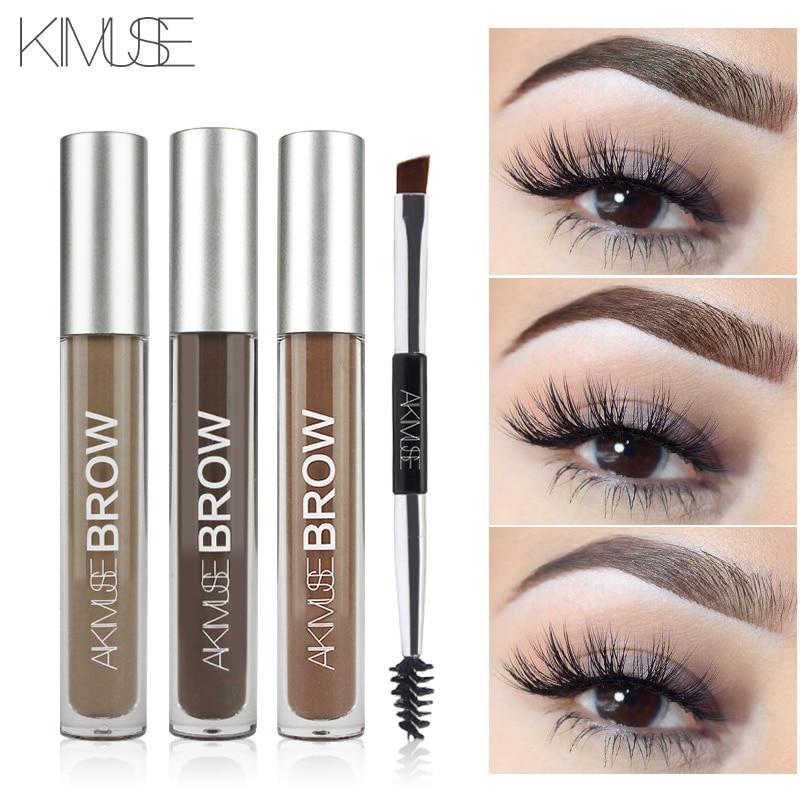 KIMUSE Eyebrow Gel Cream Waterproof Eyebrow Dye Henna Tattoo Eyebrow Pencil Shadow Long Lasting Cosmetic Eyebrow Enhancer