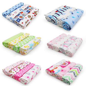 4Pcs/Lot Baby Blanket Muslin Diaper 100% Cotton Newborn Swaddle Blankets Kids Boy Girl Soft Swaddles Wrap Photography Props - sale item Bedding