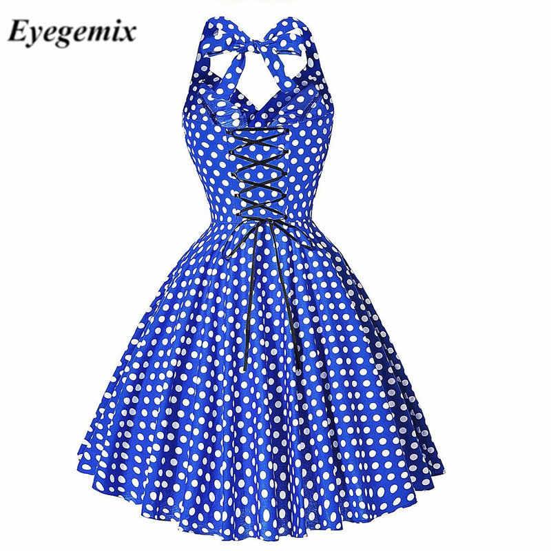 Audrey hepburn vestidos de verão 2020 nova maggie tang 50s 60s robe vintage retro pino até swing polka dot rockabilly vestido