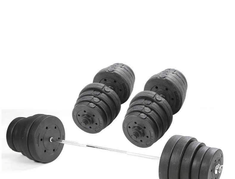 Haltérophilie haltère ensemble maison haltère hommes 35kg bras d'exercice double usage combiné barre droite haltère équipement de fitness