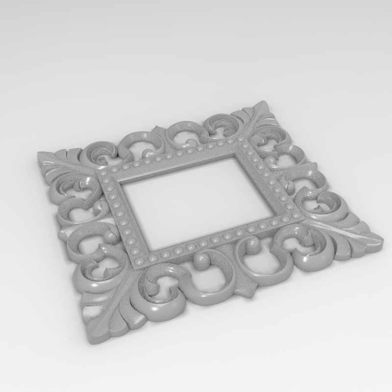 Eastern Style Border Frame 3D Model STL Format Design File CNC Router Carving ArtCAM Aspire Type3 Engraving Carving File A1191