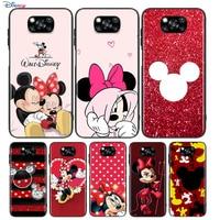 Rojo Mickey Minnie para Xiaomi Poco X3 NFC M2 X2 F2 F3 C3 M3 F1 Pro Mi juego de mezcla de 3 A3 A2 A1 6 Lite funda de teléfono suave