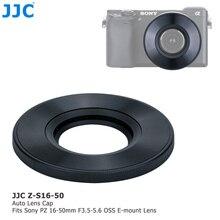 JJC ABS kamera Auto osłona obiektywu do Sony 16 50mm f/3.5 5.6 OSS alfa E mocowanie obiektywu SELP1650 automatycznie osłona obiektywu Protector