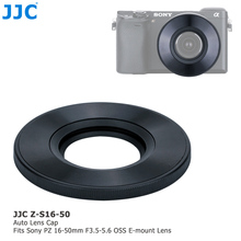 JJC ABS kamera oto Lens kapağı Sony 16 50mm f/3.5 5.6 OSS alfa E dağı Lens SELP1650 otomatik Lens kapağı koruyucu