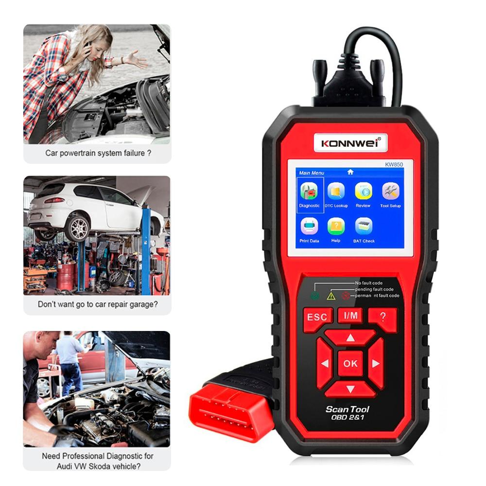Professionelle OBD2 Scanner KW850 Code Reader Fahrzeug Motor Diagnose EOBD Scan-Tool für alle OBDII & KÖNNEN Protokoll Autos Seit 1996