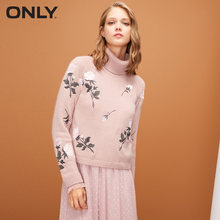 ONLY2019 autumn new high collar slim sweater women | 118313563(China)
