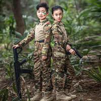 Los niños uniforme militar Multicam de las Fuerzas Especiales del Ejército de traje de Multicam juego Airsoft uniforme de combate CS equipo de Paintball