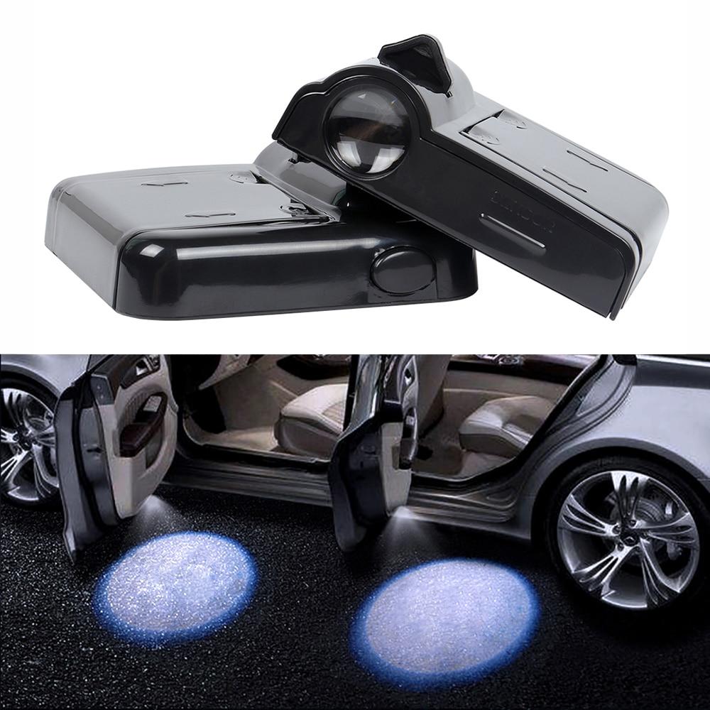 LED Car Door Courtesy Step Logo Projector Welcome Light For VW Polo Golf 3 4 5 6 7 T5 Passat B5 B5.5 B6 B7 B8 Touran Caddy Eos
