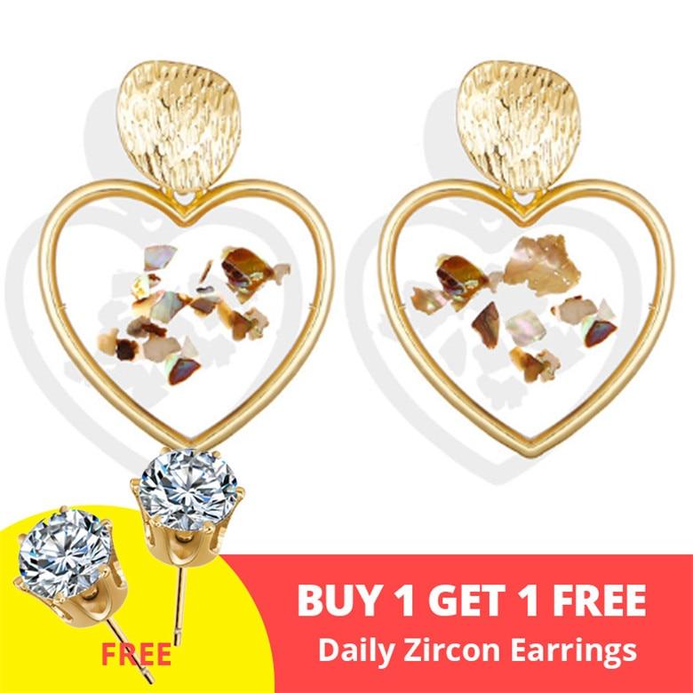 Vintage Earrings 2019 Geometric Shell Earrings For Women Girls BOHO Resin Drop Earrings Brincos Fashion Tortoise Jewelry 20