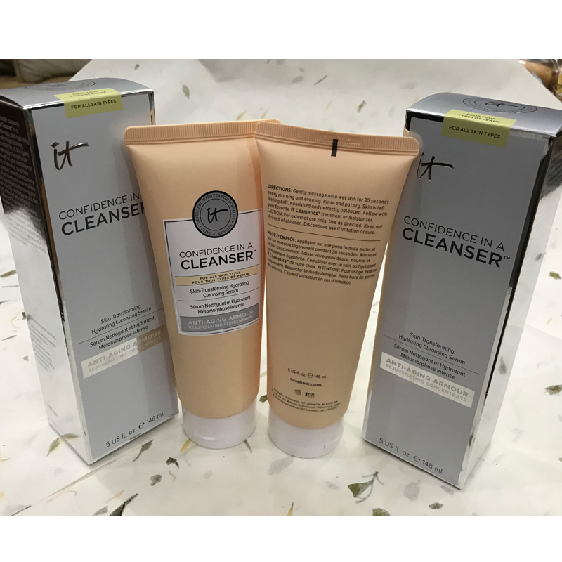6pcs/lot Wholesale It Cosmetics Confidence In A Cleanser Facial Cleanser Skin-Transforming Hydrating Antiaging Cleansing Serum