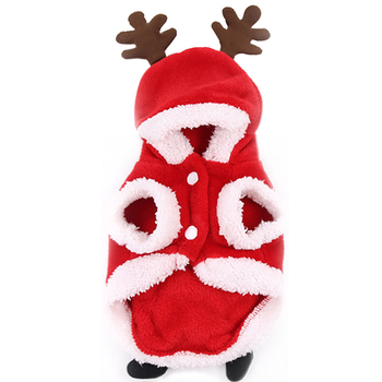 Small, medium and large dogs Christmas pet supplies clothes cat cotton clothes decoration funny autumn and winter clothes elderl image