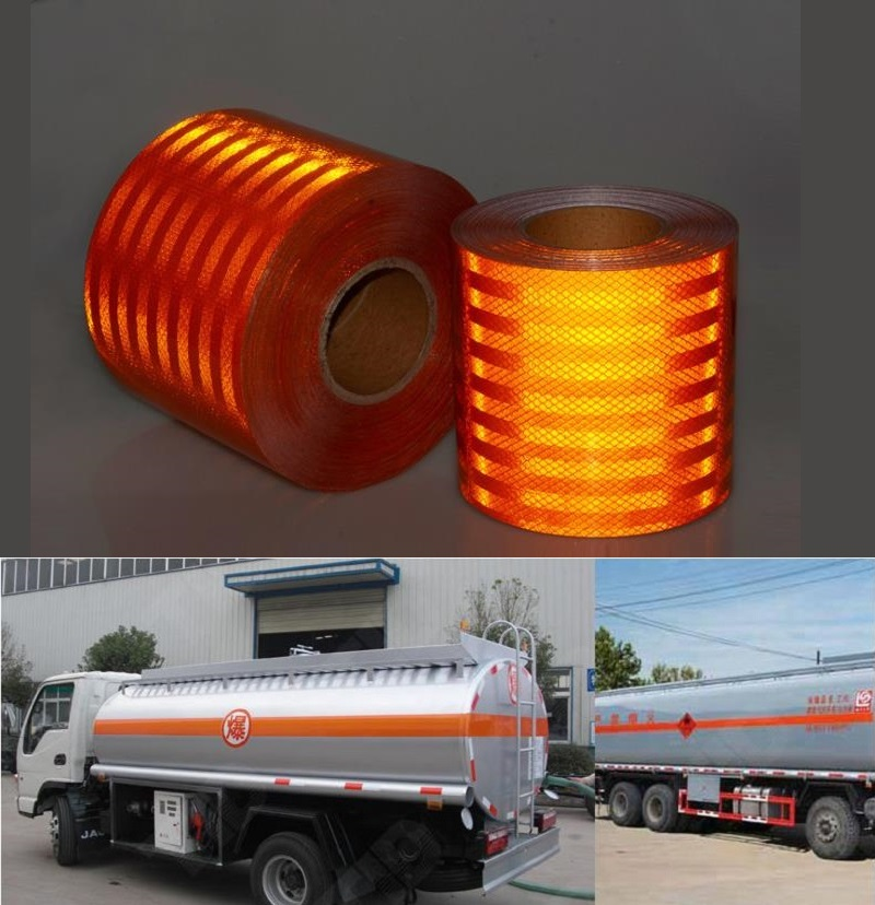 Yemingduo 15cm Width Super Strong Reflective Decoratiive Sticker Orange Red Self-adhesive Tape For Road Traffic Dangerous Goods