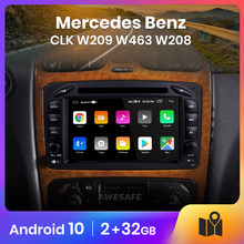 AWESAFE PX9 para Mercedes Benz CLK W209 W463 W208 auto Radio Multimedia reproductor de video GPS No 2din 2 din Android 10,0 2GB + 32GB